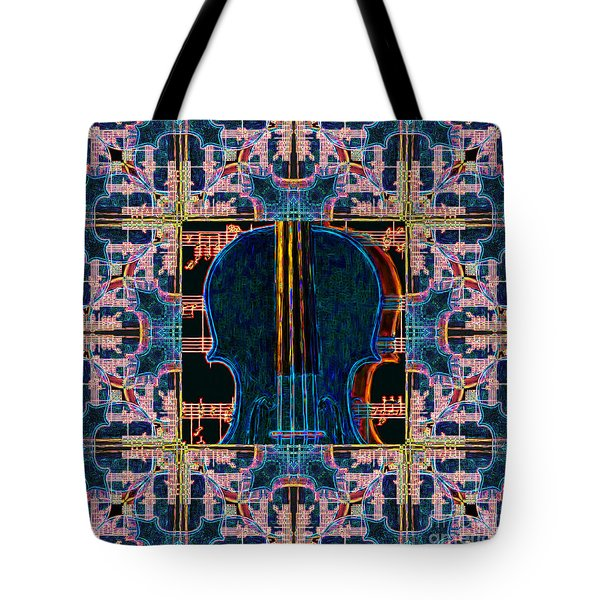 Violin Abstract Window - 20130128v1 Tote Bag by Wingsdomain Art and Photography