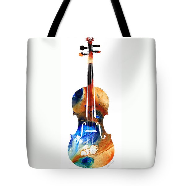 Violin Art By Sharon Cummings Tote Bag by Sharon Cummings