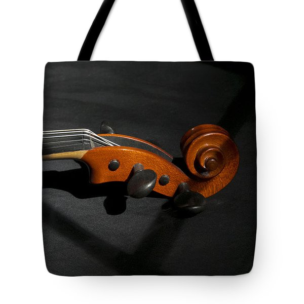 Violin In Shadow Tote Bag by Mark McKinney