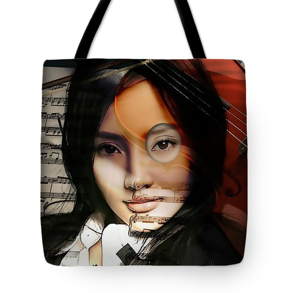 Violin Painting Tote Bag by Marvin Blaine