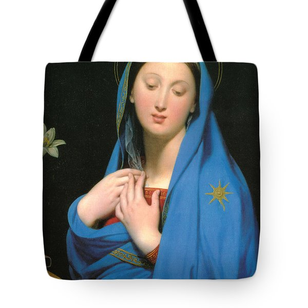 Virgin Of The Adoption Tote Bag by Jean Auguste Dominique Ingress