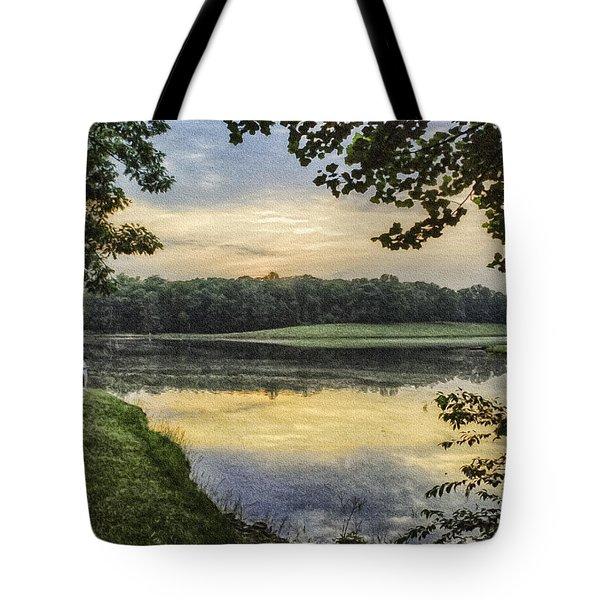 Virginia Lynchburg Thousand Trails Sunset Tote Bag by  Bob and Nadine Johnston