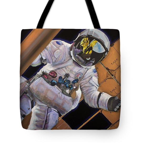 Vitruvian Man- Alan Bean.  Tote Bag by Simon Kregar