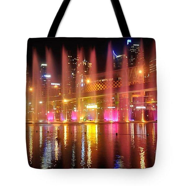 Vivid Sydney By Kaye Menner -  Vivid Aquatique  Tote Bag by Kaye Menner