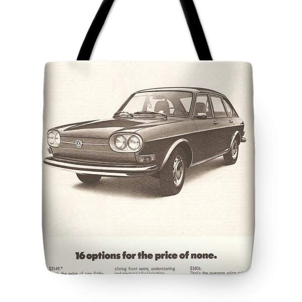 Volkswagen 411 Tote Bag by Nomad Art And  Design