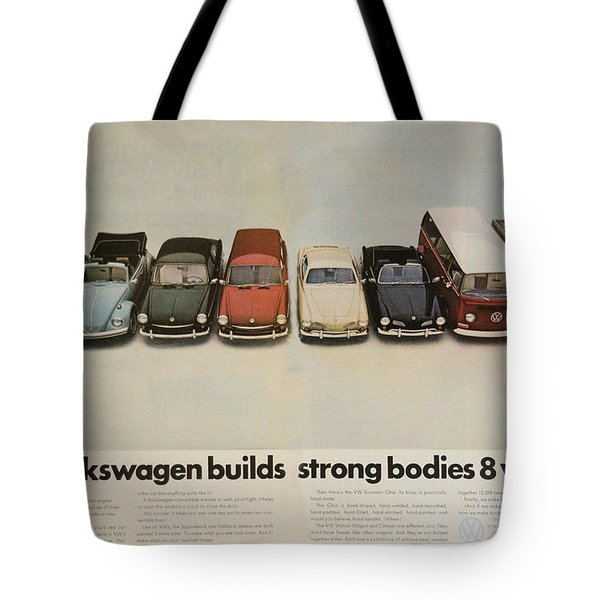 Volkswagen Body Facts Tote Bag by Nomad Art And  Design