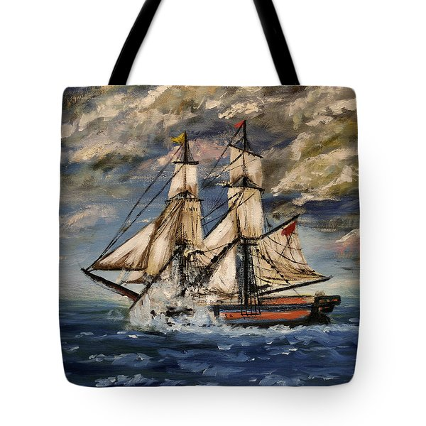 Voyage Of The Cloud Chaser Tote Bag by Isabella F Abbie Shores LstAngel Arts