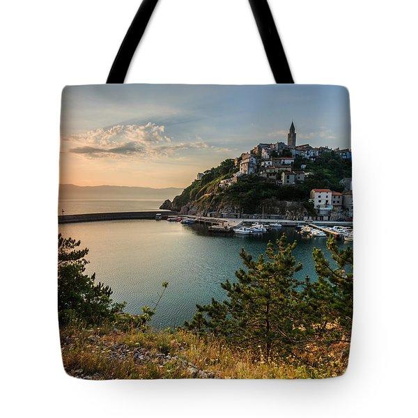 Vrbnik Tote Bag by Davorin Mance