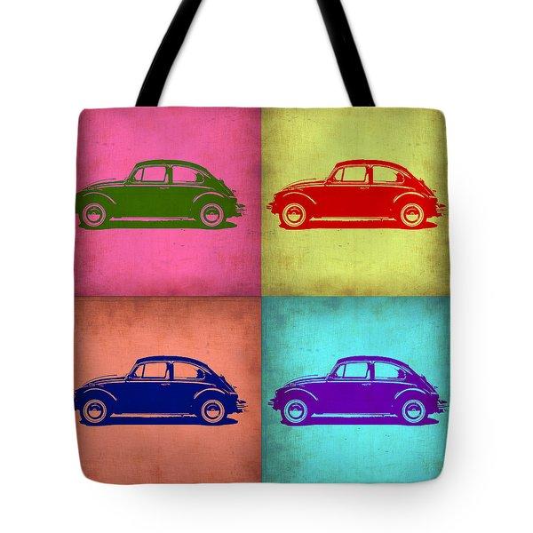 Vw Beetle Pop Art 1 Tote Bag by Naxart Studio