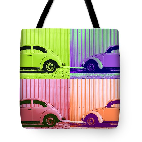 VW Pop Spring Tote Bag by Laura  Fasulo