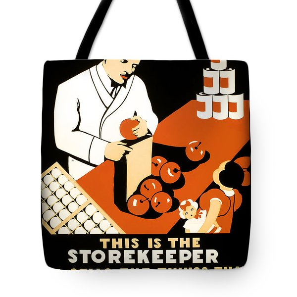 W P A  FOOD HYGIENE POSTER c. 1937 Tote Bag by Daniel Hagerman