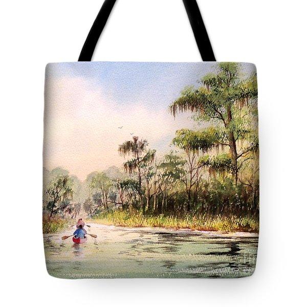 Wacissa River  Tote Bag by Bill Holkham