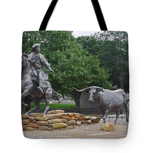 Waco - Branding the Brazos Tote Bag by Christine Till