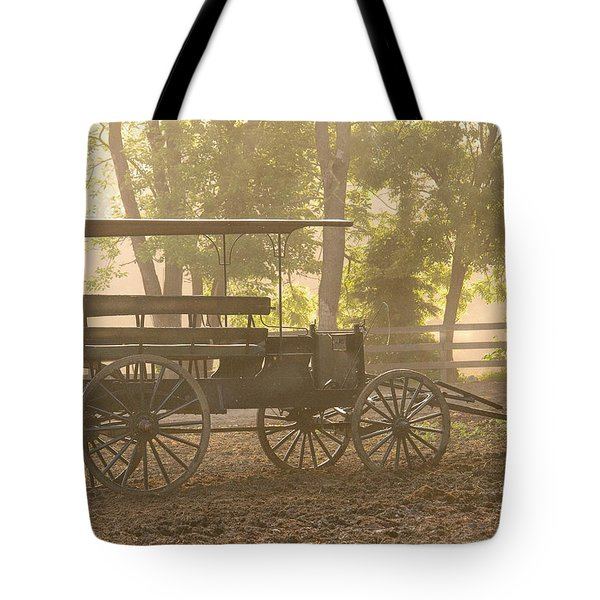 Wagon - Abe's Buggie Tote Bag by Mike Savad