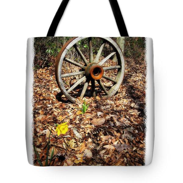 Wagon Wheel Daffodil Tote Bag by Brian Wallace