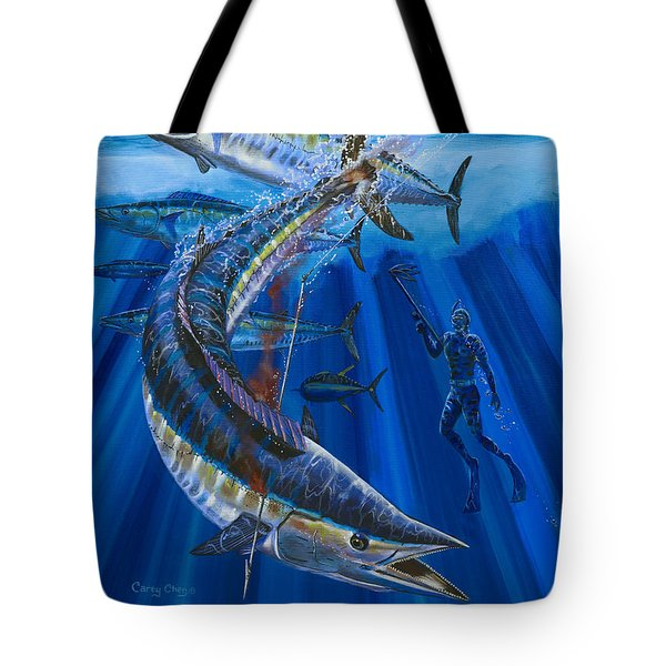 Wahoo Spear Tote Bag by Carey Chen