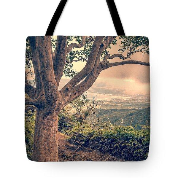 Waihee Ridge Trail Maui Hawaii Tote Bag by Edward Fielding