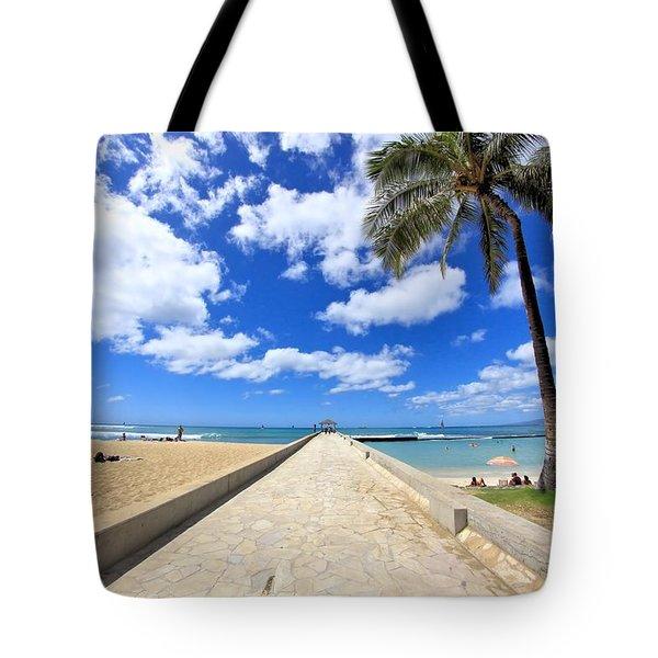 Waikiki Wall Tote Bag by DJ Florek