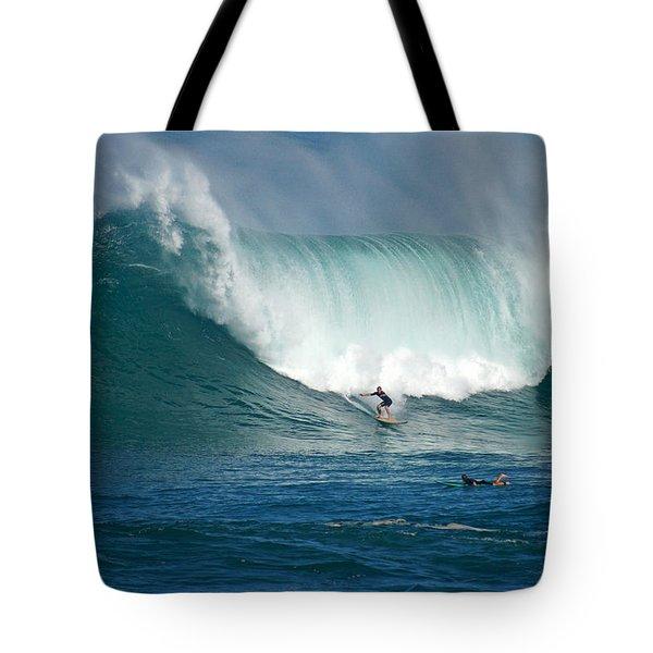 Waimea Bay Monster Tote Bag by Kevin Smith