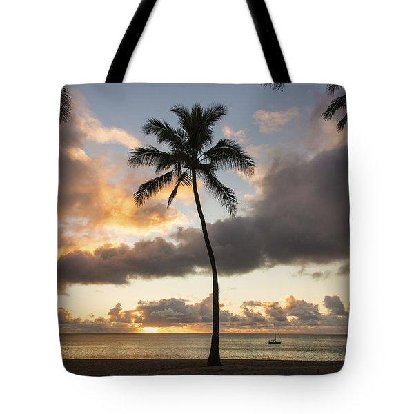 Waimea Beach Sunset - Oahu Hawaii Tote Bag by Brian Harig