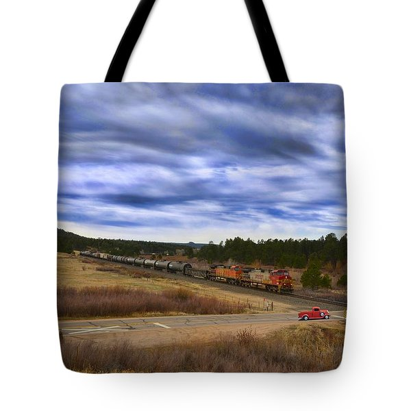 Waiting At The Gates Version 2 Tote Bag by Ken Smith
