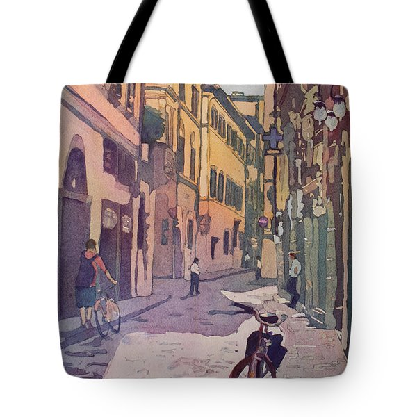 Waiting Bike Tote Bag by Jenny Armitage