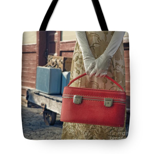 Waiting For A Train Tote Bag by Edward Fielding