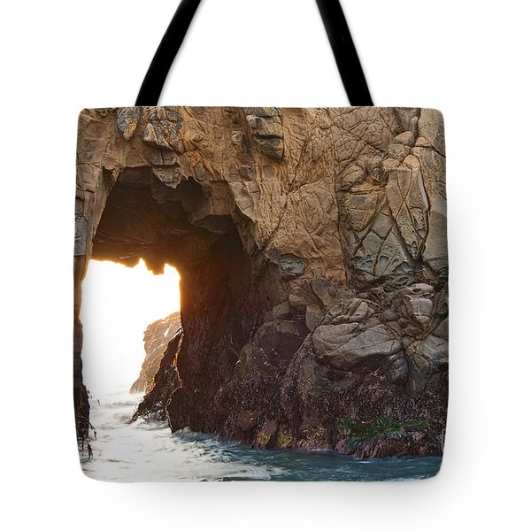 Waiting For Godot - Arch Rock In Pfeiffer Beach In Big Sur. Tote Bag by Jamie Pham