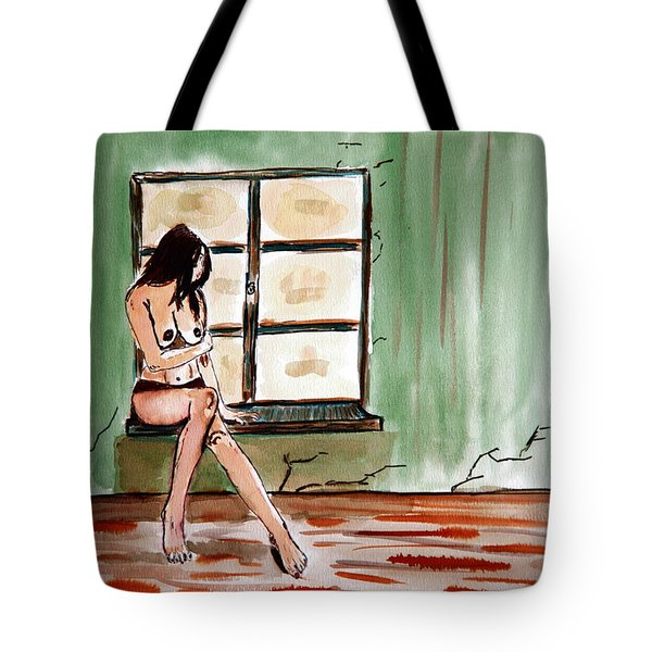 Waiting For Passion Tote Bag by Shlomo Zangilevitch