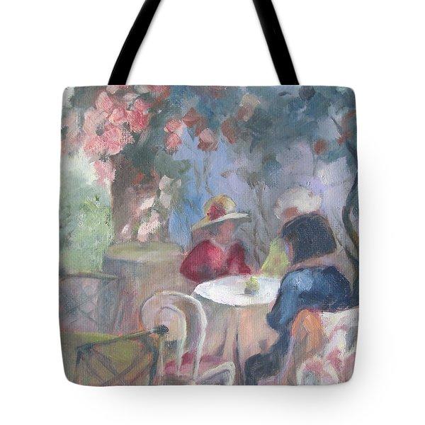 Waiting For Tea Tote Bag by Susan Richardson