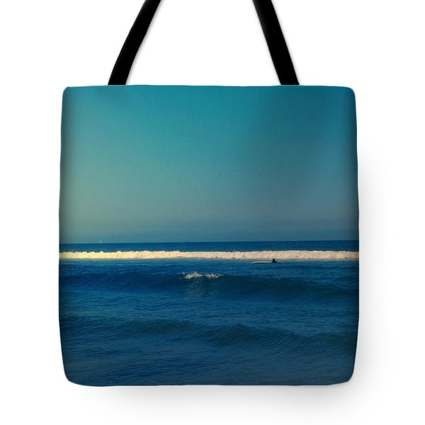 Waiting For The Perfect Wave Tote Bag by Nina Prommer