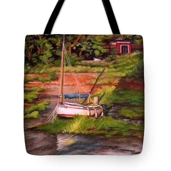 Waiting For The Tide Tote Bag by Eileen Patten Oliver