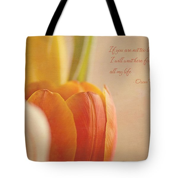 Waiting For You Tote Bag by Lisa Knechtel
