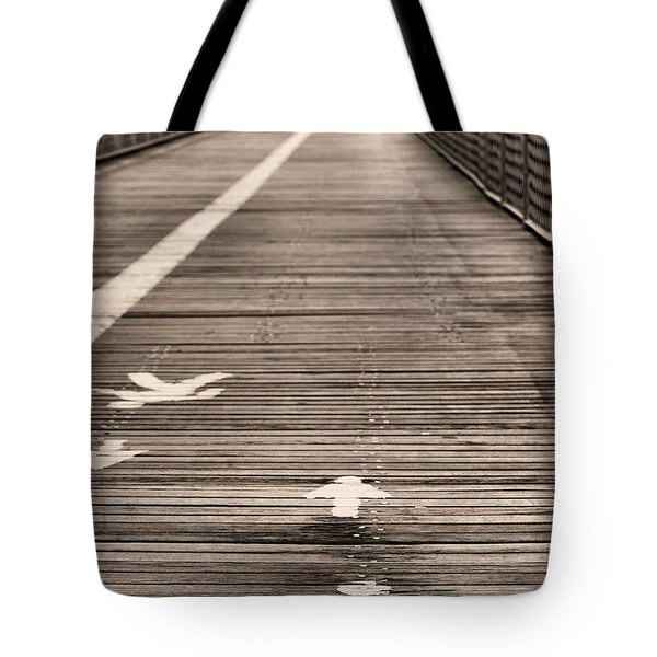 Walk This Way Tote Bag by JC Findley
