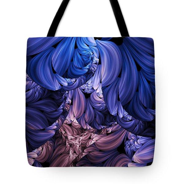 Walk Through The Petals Abstract Tote Bag by Georgiana Romanovna