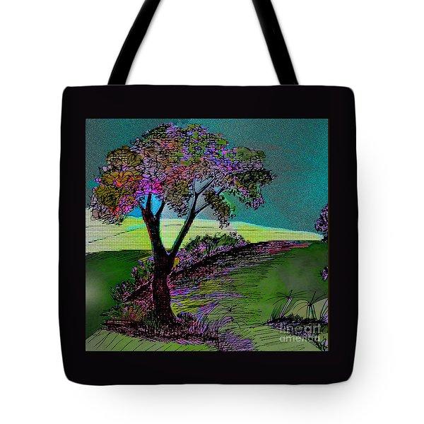 Walk With Me Tote Bag by Iris Gelbart