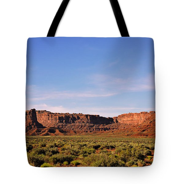 Walking In The Valley Of The Gods Tote Bag by Christine Till