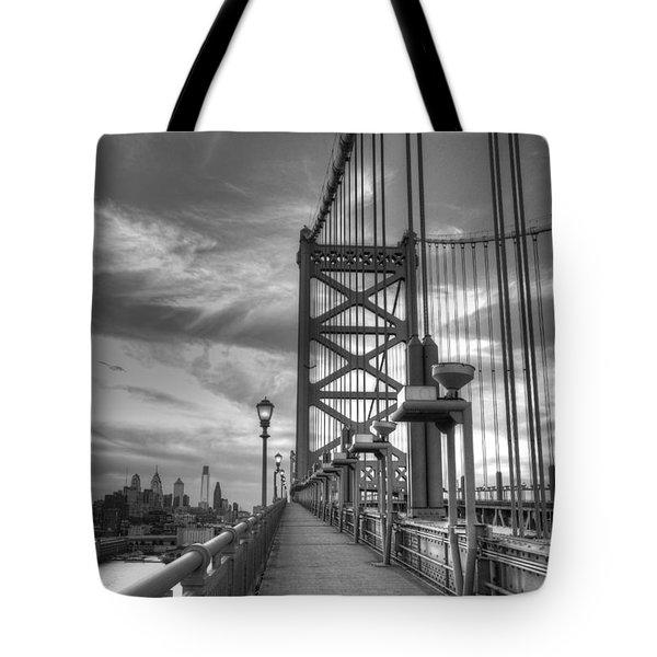 Walking To Philadelphia Tote Bag by Jennifer Lyon