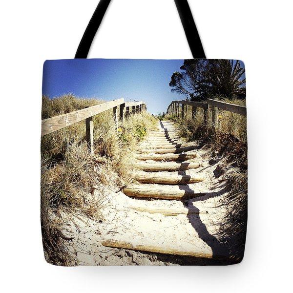 Walkway Tote Bag by Les Cunliffe