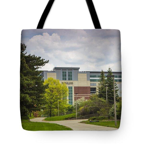 Walkway To Spartan Stadium Tote Bag by John McGraw