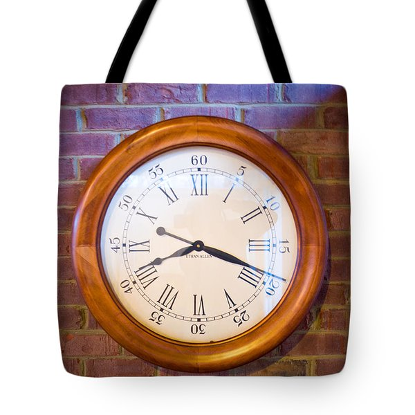 Wall Clock 1 Tote Bag by Douglas Barnett