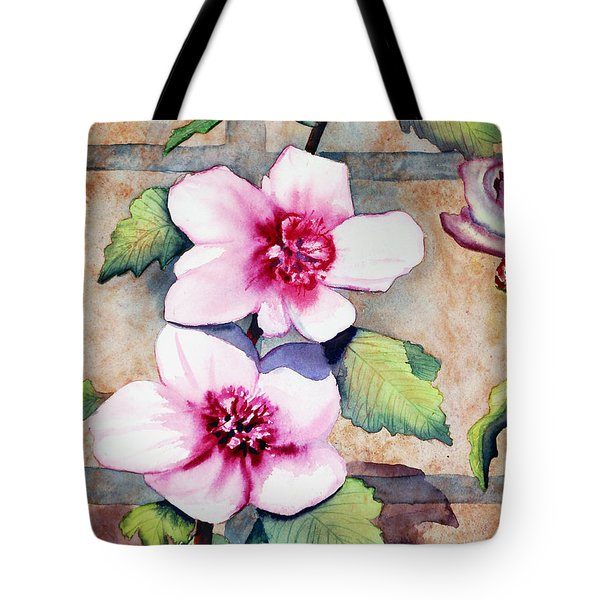 Wall Flowers Tote Bag by Flamingo Graphix John Ellis