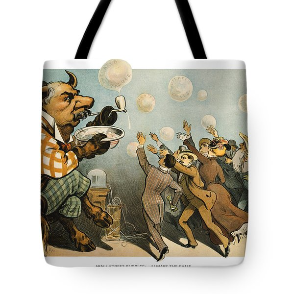 Wall Street Bubbles Always The Same Tote Bag by Aged Pixel