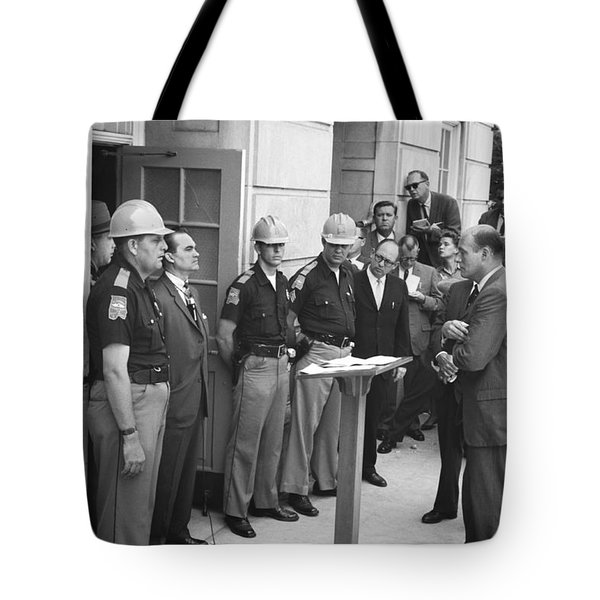 Wallace Blocks Integration Tote Bag by Warren K Leffler