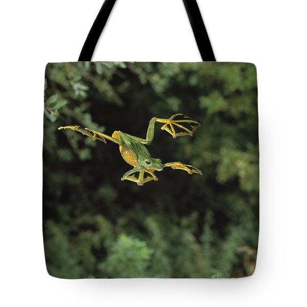 Wallaces Flying Frog Tote Bag by Stephen Dalton