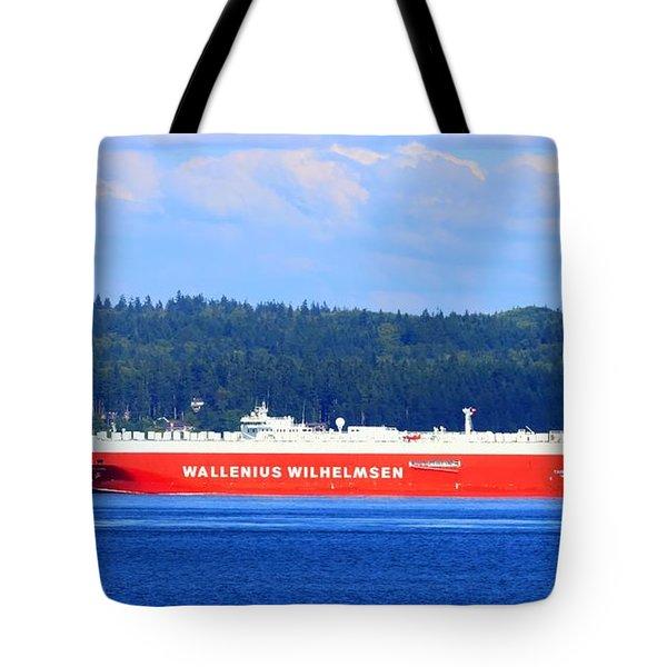 Wallenius Wilhelmsen Logistics Tamerlane Ship Tote Bag by Tap On Photo