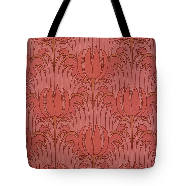 Wallpaper Design Tote Bag by Victorian Voysey