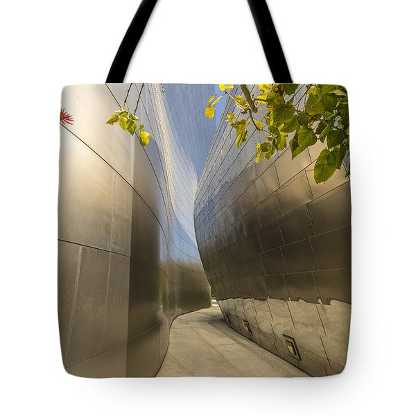 Walt Disney Concert Hall Scenery Tote Bag by Angela A Stanton