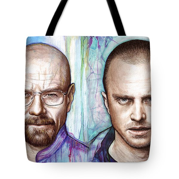 Walter and Jesse - Breaking Bad Tote Bag by Olga Shvartsur
