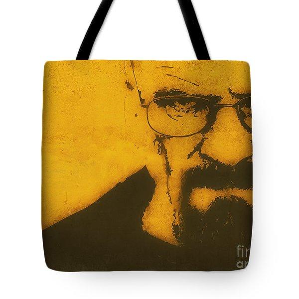 Walter White Breaking Bad Tote Bag by Pixel Chimp
